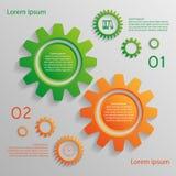 Infographicachtergrond met toestellen Stock Afbeeldingen