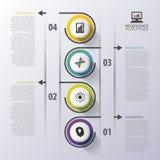 Infographicchronologie Modern vectorontwerpmalplaatje Vector illustratie Stock Fotografie
