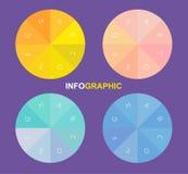 Infographiccirkel, vectorcirkel met binnen alfabetten Royalty-vrije Stock Afbeelding