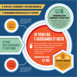 Infographicconcept - Bedrijfsregeling - Modern Malplaatje Royalty-vrije Stock Foto's