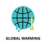 Infographicconcept ecologie en het globale verwarmen Royalty-vrije Stock Fotografie