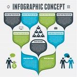 Infographicconcept - vectorregeling voor ontwerplay-out, bedrijfspresentatie, aantalopties, bannermalplaatje, Webontwerp, infogra Stock Foto
