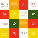 Infographicconceptontwerp Stock Foto