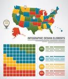 Infographicelementen Royalty-vrije Stock Afbeeldingen