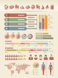 Infographicelementen Stock Foto