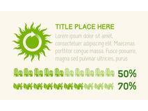 Infographicelementen. Stock Afbeelding
