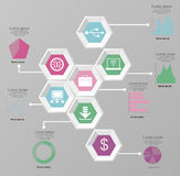 Infographicelementen Royalty-vrije Stock Foto's