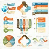 Infographicelementen en Communicatie Concept Royalty-vrije Stock Fotografie