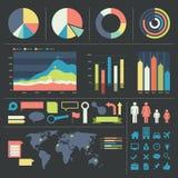 Infographicelementen en pictogrammen Royalty-vrije Stock Foto