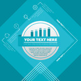 Infographicelementen - grafiek en pictogrammen Stock Afbeelding