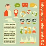 Infographicelementen met verschillende informatie Stock Foto's