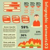 Infographicelementen met verschillende informatie Royalty-vrije Stock Foto's