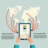 Infographicelementen met verschillende informatie Royalty-vrije Stock Foto