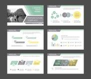 Infographicelementen voor presentatiemalplaatjes Royalty-vrije Stock Foto's