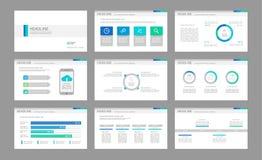 Infographicelementen voor presentatiemalplaatjes Royalty-vrije Stock Afbeeldingen