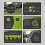 Infographicelementen voor presentatiemalplaatjes Stock Fotografie