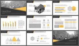 Infographicelementen voor presentatiemalplaatjes Stock Afbeelding