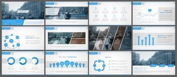 Infographicelementen voor presentatiemalplaatjes Stock Afbeeldingen