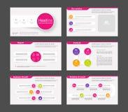 Infographicelementen voor presentatiemalplaatjes Royalty-vrije Stock Fotografie
