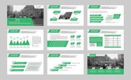 Infographicelementen voor presentatiemalplaatjes Stock Foto