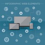 Infographicelementen voor Web Royalty-vrije Stock Afbeelding