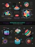 Infographicgegevenselementen Stock Fotografie