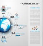 Infographicgroepswerk en brainstorming met Vlakke stijl Royalty-vrije Stock Foto