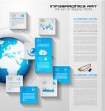 Infographicgroepswerk en brainstorming met Vlakke stijl Stock Fotografie