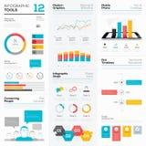 Infographichulpmiddelen en bedrijfs vectorgrafiekelementen Stock Foto's
