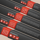 Infographick temlpate five steps Royalty Free Stock Images