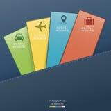 Infographickaart Stock Foto