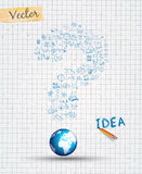 Infographiclay-out voor de achtergrond van het Brainstormingsconcept Stock Fotografie