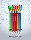Infographiclay-out voor de achtergrond van het Brainstormingsconcept met grafieken Royalty-vrije Stock Fotografie