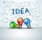 Infographiclay-out voor de achtergrond van het Brainstormingsconcept met grafiekenschetsen Royalty-vrije Stock Fotografie