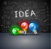 Infographiclay-out voor de achtergrond van het Brainstormingsconcept met grafiekenschetsen Stock Fotografie