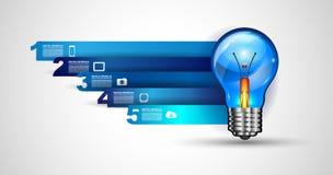 Infographiclay-out voor de achtergrond van het Brainstormingsconcept met grafiekenschetsen Stock Foto's