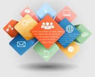 Infographicmalplaatje Stock Foto