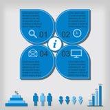 Infographicmalplaatje Royalty-vrije Stock Foto's