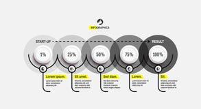 Infographicmalplaatje met percents Bedrijfs concept Op de markt brengend strategiemalplaatje Vectorillustratie voor statistieken  stock illustratie