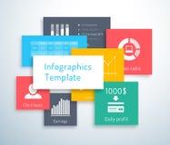Infographicmalplaatje met vierkanten Royalty-vrije Stock Foto