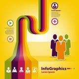 Infographicmalplaatje voor bedrijfsontwerp Stock Foto