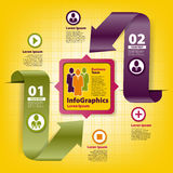 Infographicmalplaatje voor bedrijfsontwerp Stock Afbeeldingen
