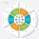 Infographicmalplaatje voor bedrijfsproject of presentatie royalty-vrije illustratie