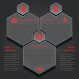 Infographicmalplaatje voor bedrijfsproject of presentatie met royalty-vrije illustratie