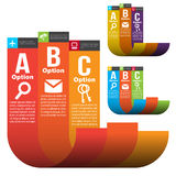 Infographicmalplaatjes Royalty-vrije Stock Foto