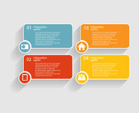 Infographicmalplaatjes voor Bedrijfsvector Stock Fotografie