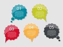 Infographicmalplaatjes voor Bedrijfsvector Royalty-vrije Stock Foto