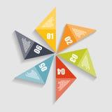 Infographicmalplaatjes voor Bedrijfsvector Stock Foto's
