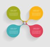 Infographicmalplaatjes voor Bedrijfsvector Stock Foto