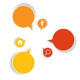 Infographicmalplaatjes voor Bedrijfsvector Stock Afbeelding